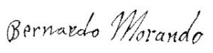 Autograf Bernadra Morando reprodukcja Muzeum Zamojskie